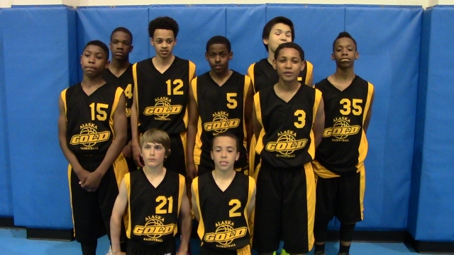 2014 NW Championships Travel Team (2019) Front Row (L to R): Braun Ohlson, Isaiah Moses, Daishen Nix; Back Row (L to R): DiQues Esaw, D'ontae Stuppard, Kaeleb Johnson, Deondrick McCright, Bryce Muller, Jarron Williams