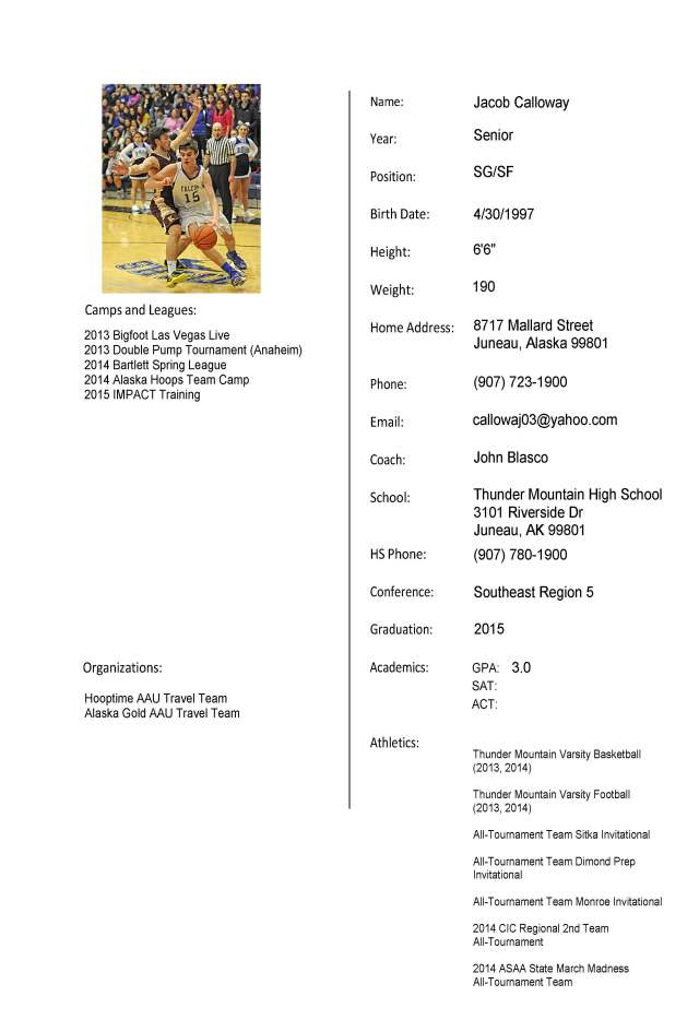 Jacob Calloway Travel Player  Profile