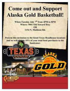 Texas Roadhouse Fundraiser Flyer